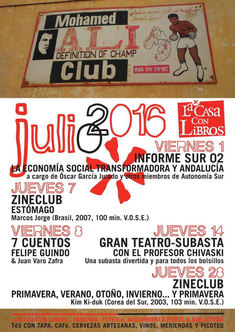 JULIO 2016 en La Casa Con Libros: Agenda de actividades
