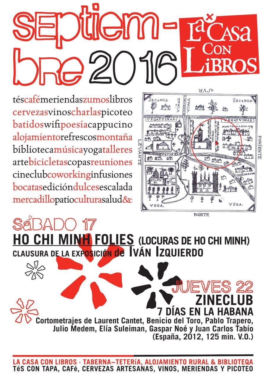 SEPTIEMBRE 2016 en La Casa Con Libros