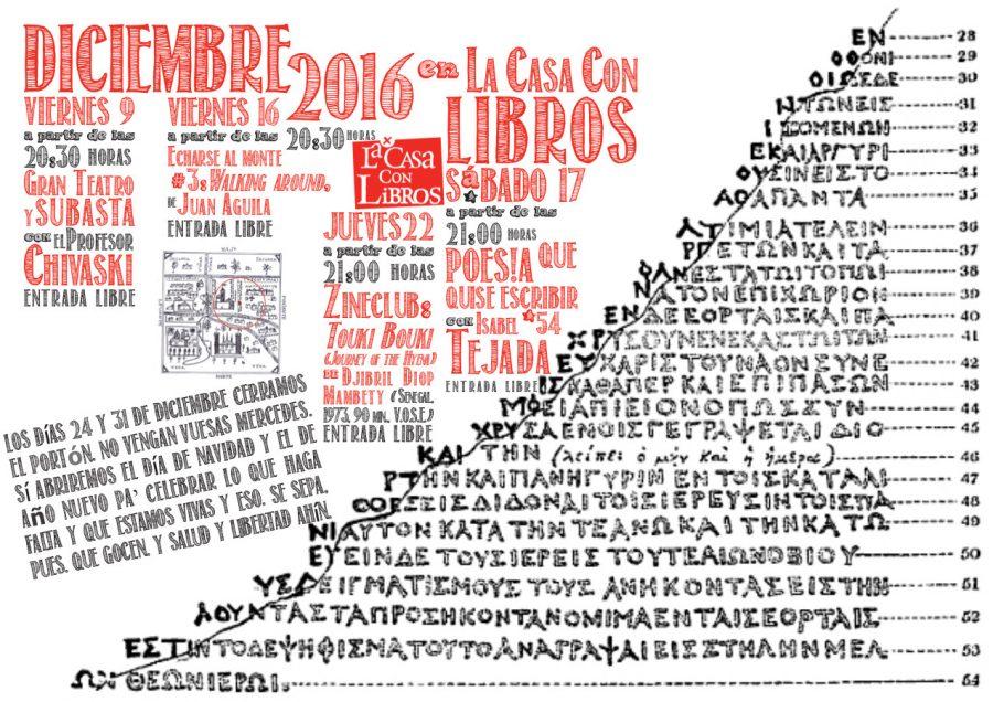 DICIEMBRE 2016 en La Casa Con Libros