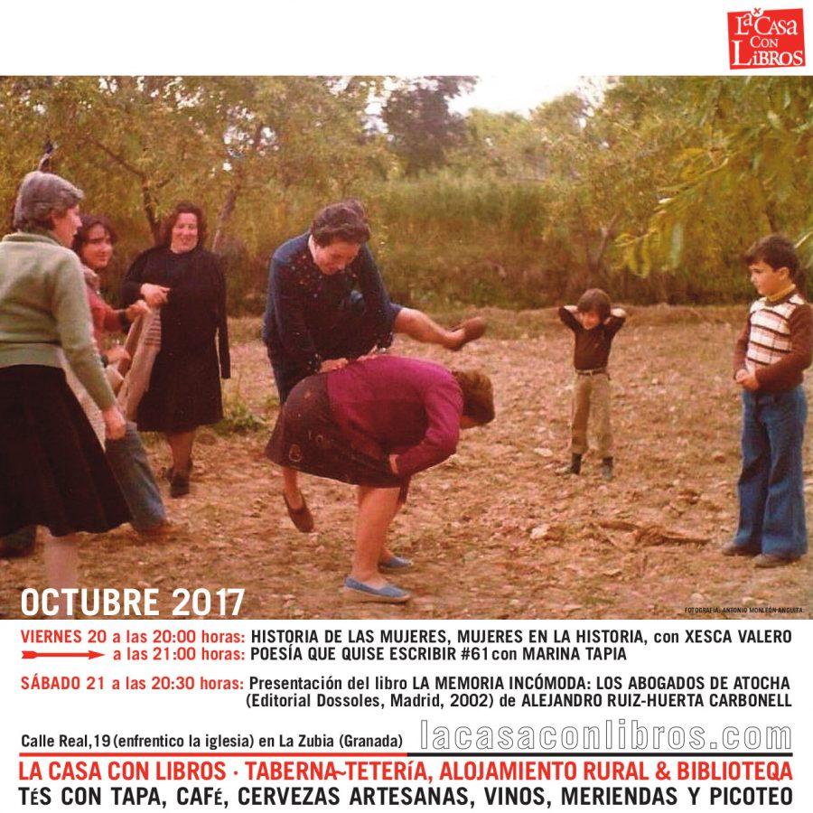 OCTUBRE 2017 en La Casa Con Libros