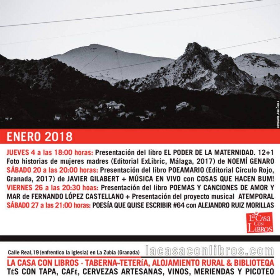 ENERO 2018 EN LA CASA CON LIBROS