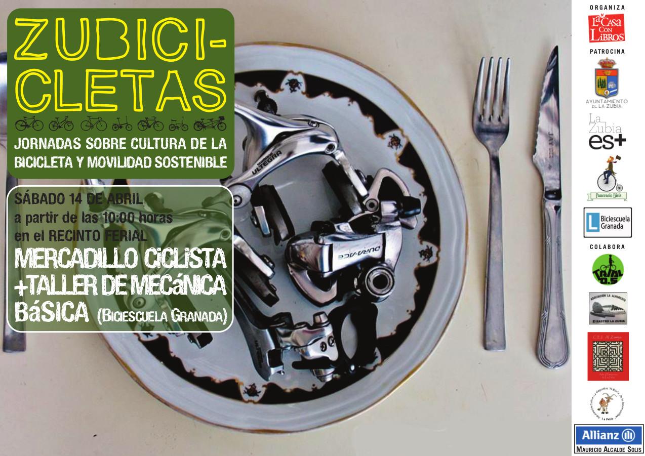 cartel mercadillo ZUBICICLETAS