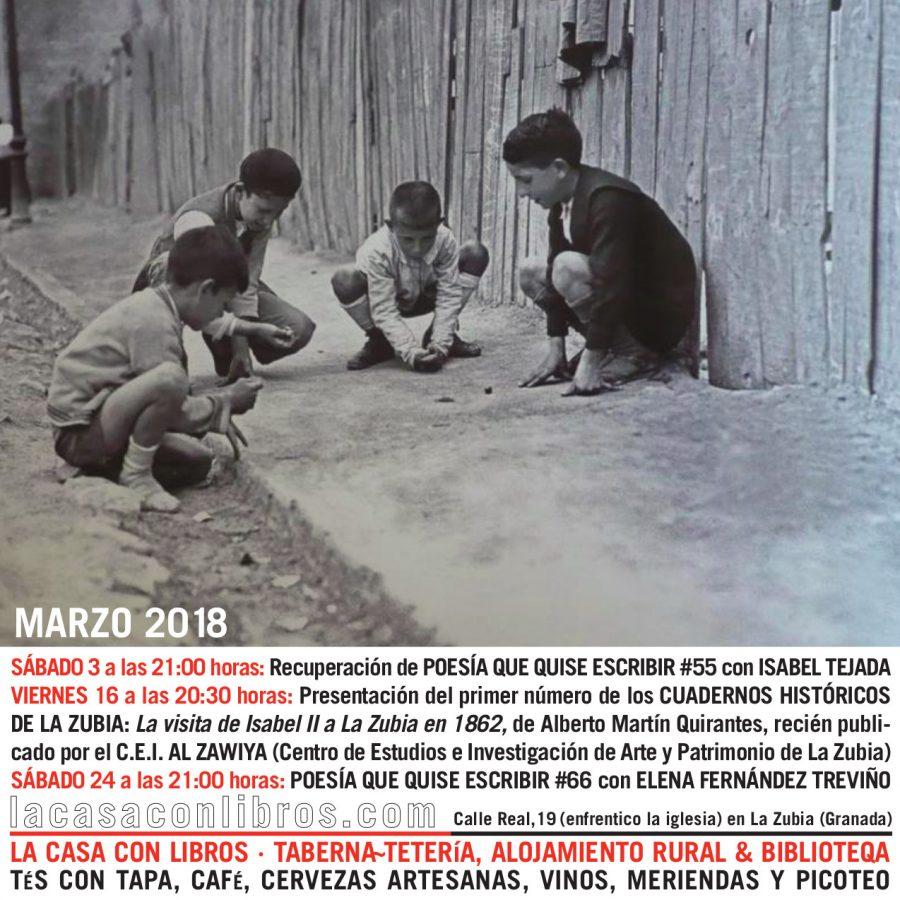 MARZO 2018 en La Casa Con Libros: Agenda de actividades