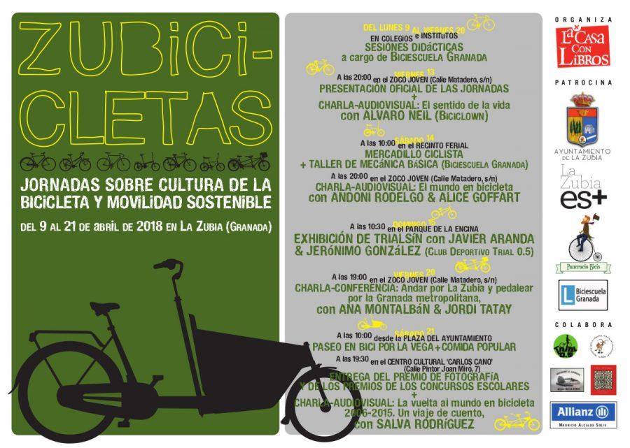 ZUBICICLETAS: Jornadas sobre cultura de la bicicleta y movilidad sostenible
