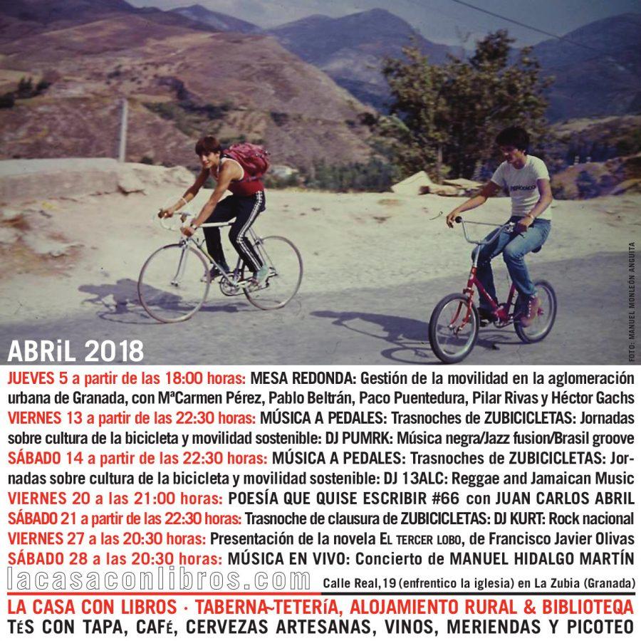 ABRIL 2018 en La Casa Con Libros: Agenda de actividades